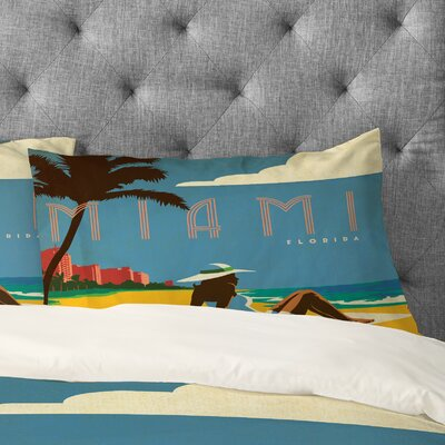 Anderson Design Group Miami Pillowcase Size: King