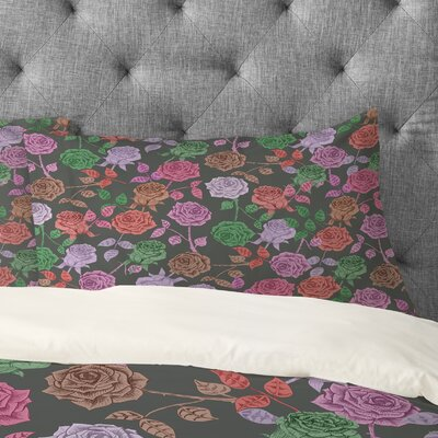 Bianca Green Roses Pillowcase Size: Standard, Color: Vintage