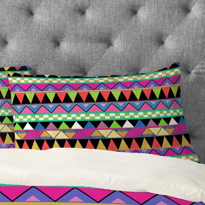 Bianca Green Zigzag Pillowcase Size: King