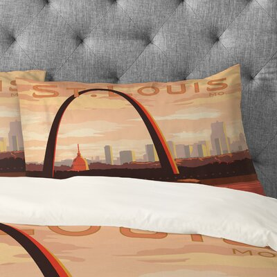 Anderson Design Group St Louis Pillowcase Size: King