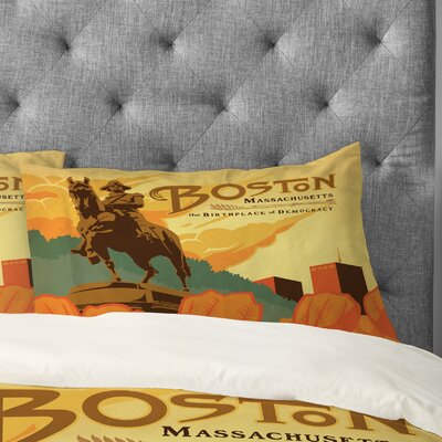 Anderson Design Group Boston Pillowcase Size: King