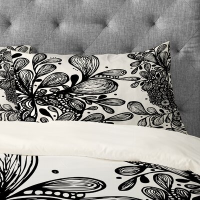 Julia Da Rocha Wild Leaves Pillowcase Size: King