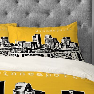 Bird Ave Minneapolis Pillowcase Size: King, Color: Yellow