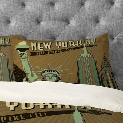 Anderson Design Group New York Pillowcase Size: King