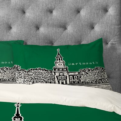 Bird Ave Dartmouth College Pillowcase Size: King