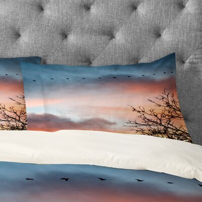Bird Wanna Whistle Bird Line Pillowcase Size: King
