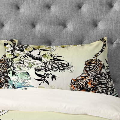 Aimee St Hill Tiger Tiger Pillowcase Size: King