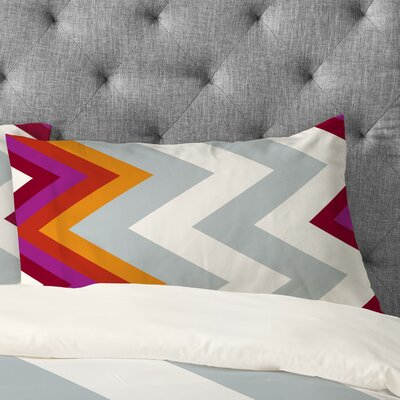 Karen Harris Modernity Solstice Warm Chevron Pillowcase Size: Standard