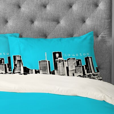 Bird Ave Houston Pillowcase Size: King, Color: Sky