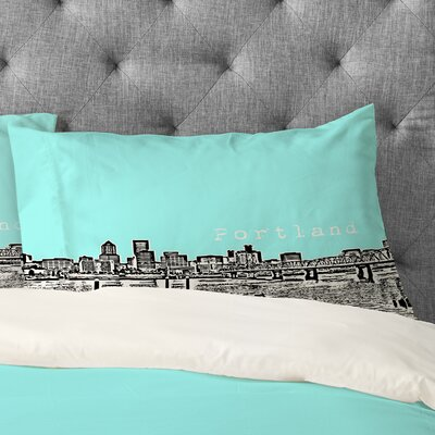 Bird Ave Portland Pillowcase Size: Standard, Color: Ice