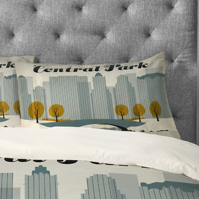Anderson Design Group Central Park Snow Pillowcase Size: King