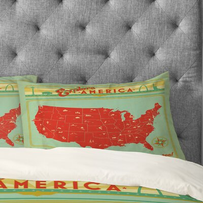 Anderson Design Group Explore America Pillowcase Size: King