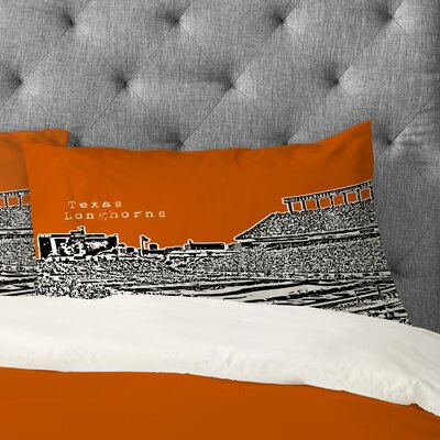 Bird Ave Texas Longhorns Pillowcase Size: King