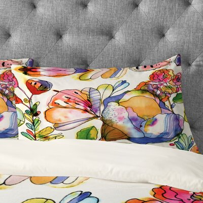 Bourke Blossom Pastel Pillowcase Size: King