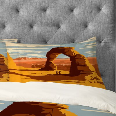 Anderson Design Group Arches Pillowcase Size: Standard