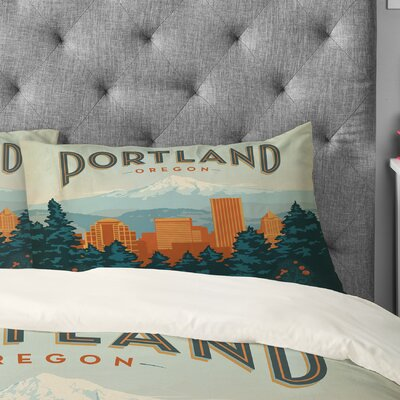 Anderson Design Group Portland Pillowcase Size: King