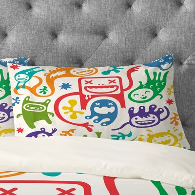 Andi Bird Misfits Pillowcase Size: King