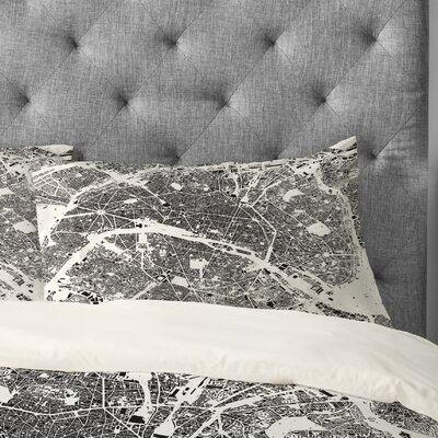 CityFabric Inc Paris Pillowcase Size: Standard, Color: White