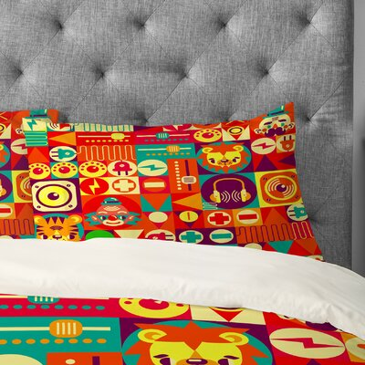 Chobopop Electro Circus Pillowcase Size: King