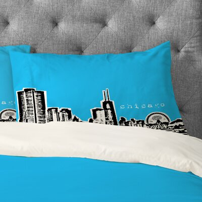 Bird Ave Chicago Pillowcase Size: King