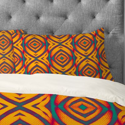 Wagner Campelo Maranta Pillowcase Size: Standard, Color: Orange