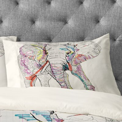 Casey Rogers Elephant 1 Pillowcase Size: King