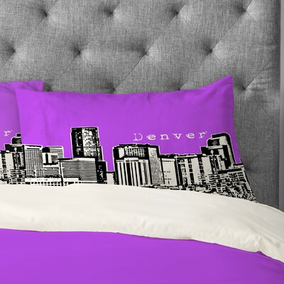 Bird Ave Denver Pillowcase Size: King, Color: Purple