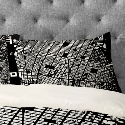 Cityfabric Inc NYC Pillowcase Color: Black, Size: King