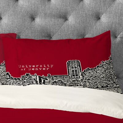 Bird Ave University of Denver Pillowcase Size: King