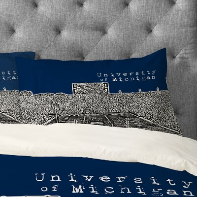 Bird Ave University of Michigan Pillowcase Size: King