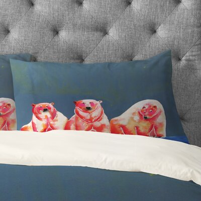 Clara Nilles Polarbear Blush Pillowcase Size: King