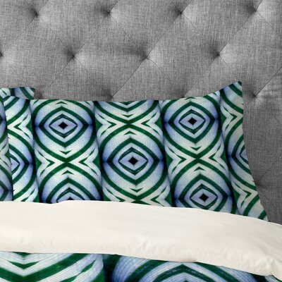 Wagner Campelo Maranta Pillowcase Color: Blue, Size: King