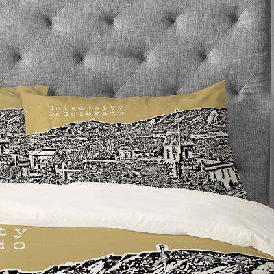 Bird Ave University of Colorado Pillowcase Size: King