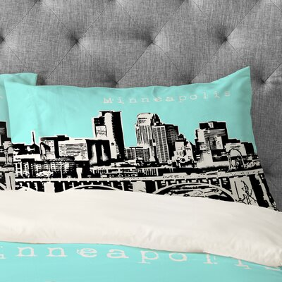 Bird Ave Minneapolis Pillowcase Size: King, Color: Sky