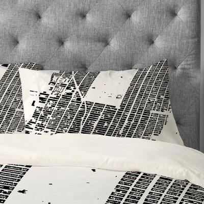 CityFabric Inc NYC Midtown Pillowcase Color: White, Size: King