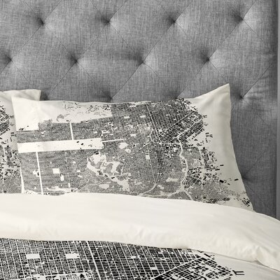 CityFabric Inc San Francisco Pillowcase Size: King, Color: White