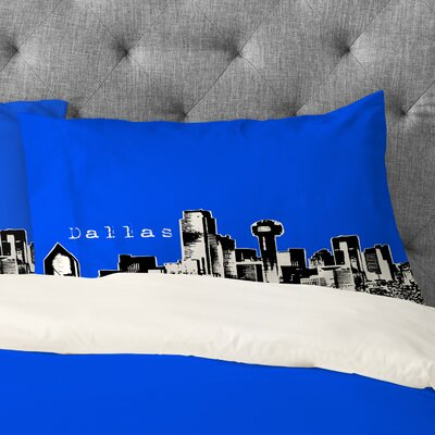 Bird Ave Dallas Pillowcase Size: King, Color: Royal