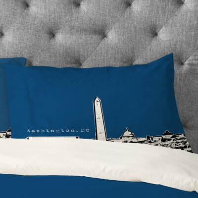 Bird Ave Washington Pillowcase Color: Navy, Size: Standard