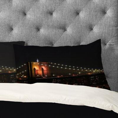 Leonidas Oxby Brooklyn Bridge 2 Pillowcase Size: King