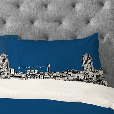 Bird Ave Ann Arbor Pillowcase Size: King, Color: Navy