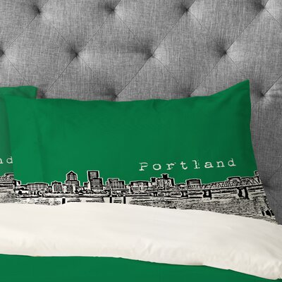 Bird Ave Portland Pillowcase Size: Standard, Color: Green