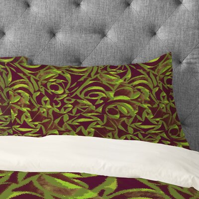 Wagner Campelo Abstract Garden Pillowcase Size: Standard, Color: Green