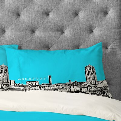 Bird Ave Ann Arbor Pillowcase Color: Sky, Size: King