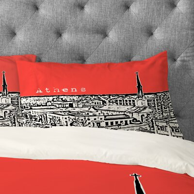 Bird Ave Athens Pillowcase Size: Standard, Color: Red