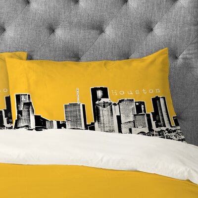 Bird Ave Houston Pillowcase Size: King, Color: Yellow