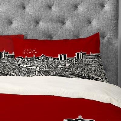 Bird Ave Ohio State Buckeyes Pillowcase Size: King