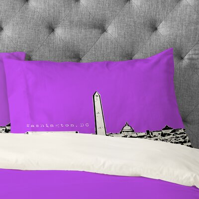 Bird Ave Washington Pillowcase Color: Purple, Size: Standard