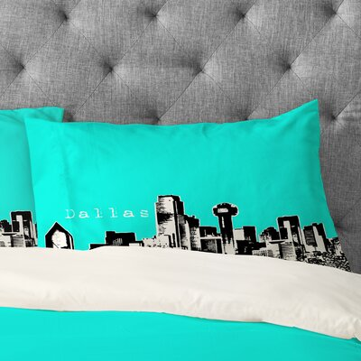Bird Ave Dallas Pillowcase Size: Standard, Color: Aqua