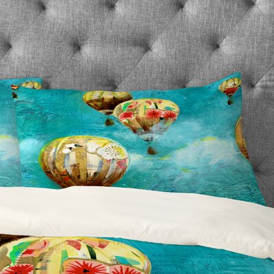 Land Of Lulu Herd of Balloons 2 Pillowcase Size: Standard