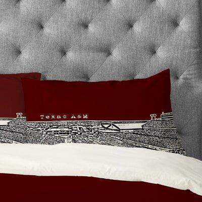 Bird Ave Texas A&M Maroon Pillowcase Size: Standard